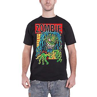 Rob Zombie T Shirt The Devil Made me do it Zombie Logo Official Mens New Black
