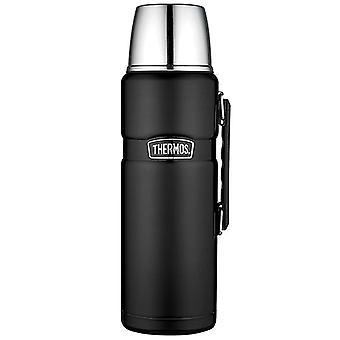 Thermos 2-liter RVS koning vacuüm geïsoleerde drank fles - mat zwart