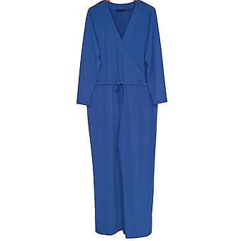 H de Halston Plus Jumpsuits Jet Set Jersey Wide Leg Blue A273972