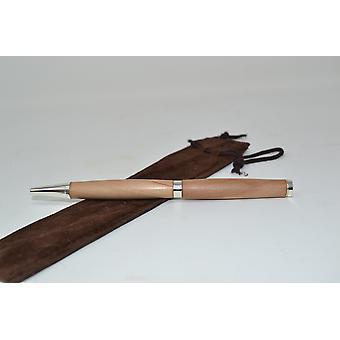 Wood ballpoint pen wood rotary ballpoint pen pen twistpen apple handmade ballpoint pen gift gift idea unique