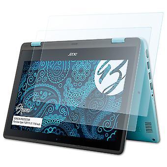 Bruni 2x Screen Protector kompatibel med Acer Spin 1 SP111-31 11,6 tommers beskyttende film