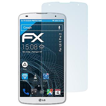 atFoliX Glass Protector compatible with LG G Pro 2 Glass Protective Film 9H Hybrid-Glass