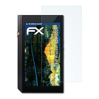 atFoliX Glass Protector compatible with Pioneer XDP-300R Glass Protective Film 9H Hybrid-Glass