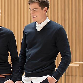 Henbury cashmere touch acrylic v neck jumper hb760