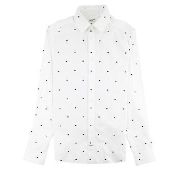 Kenzo Eye Slim Fit Camicia Bianco
