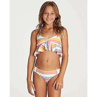 Billabong Girls' Sunny Song Flutter Bikini Set Black 10