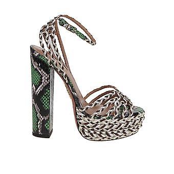 Aquazzura Cozhigb0npjpcc Women's Multicolor Leather Sandals