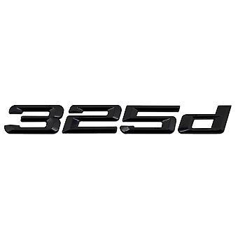 Gloss Black BMW 325d Car Badge Emblem Model Numbers Letters For 3 Series E36 E46 E90 E91 E92 E93 F30 F31 F34 G20