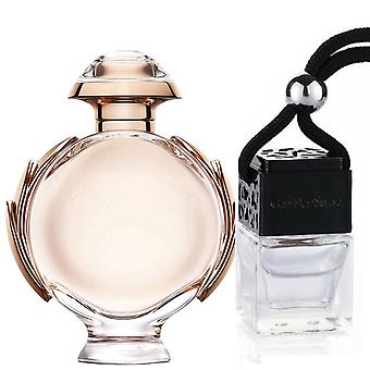 Paco Rabanne Olympea For Her Inspired Fragrance 8ml Black Lid Bottle Hanging Car Vehicle Auto Air Freshener
