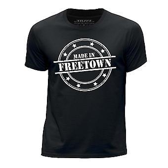 STUFF4 Boy's Round Neck T-Shirt/Made In Freetown/Black
