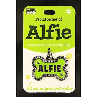 Wags & Whiskers Pet Identity Tag - Alfie