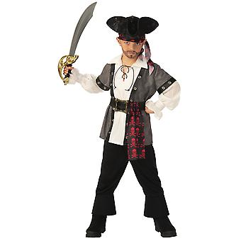 Pirate Boy Captain Jack Sparrow Caribbean Story Book Week Child Boys Kostuum