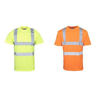 RTY High Visibility Mens High Vis T-Shirt (Pack of 2)