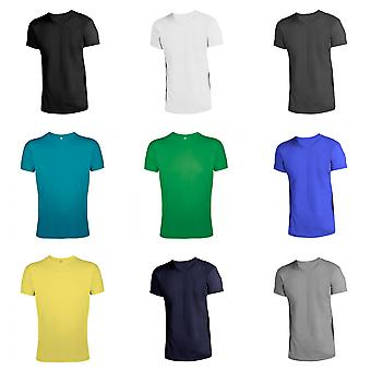 SOLS Mens Regent Slim Fit T-Shirt korte mouw