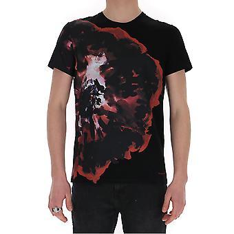 Alexander Mcqueen 609577qoz910901 Men's Black Cotton T-shirt
