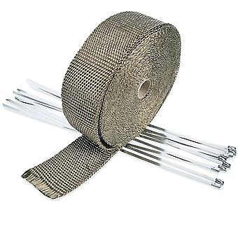 Wrap Exhaust Manifold Insulating Tape /  10 Meters/5cm/1.5mm | Gray / For Motorcycles Cars Tubes Exhausts
