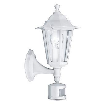 Eglo Laterna 5 - 1 Lys udendørs væg lanterne med PIR sensor Hvid IP44 - EG22464