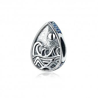 Sterling Silver Charm Sunrise Waves - 5390