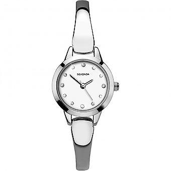 Sekonda Ladies White Dial Stainless Steel Bangle Watch 2479