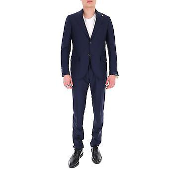 Lardini Ei416aeeirp544953 Männer's blau Erbaumwollanzug