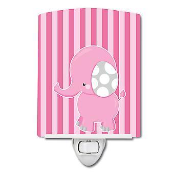 كارولينز كنوز BB6955CNL الفيل على الوردي المشارب السيراميك ليلة ضوء