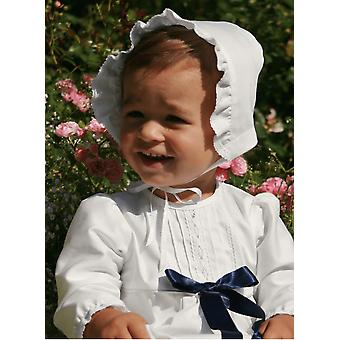 Christening Bonnet I White Cotton For Baby Boys And Girls