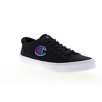Campione Fringe LO Mens Nero Canvas Pizzo Up Low Top Sneakers Scarpe