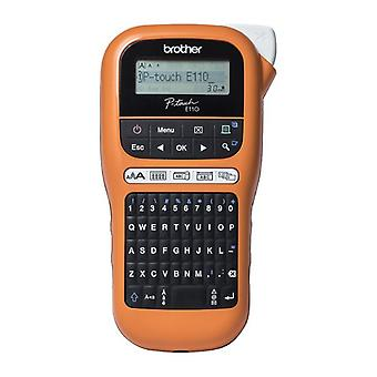 Portable Electric Label Maker Brother PT-E110VP LCD Orange