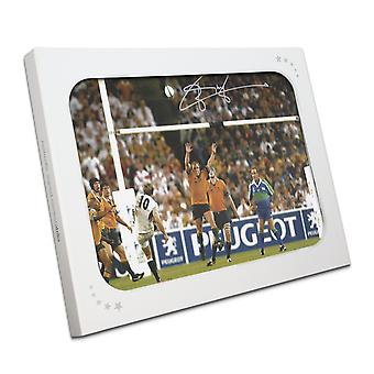 Jonny Wilkinson Signed 2003 Rugby World Cup Photo: Winning Drop-Goal. Gift Box