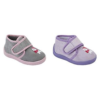 Sleepers Childrens Girls Whiskers Touch Fastening Cat Bootee Slippers