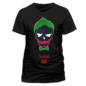 Suicide Squad - Joker Icon Men-apos;s T-Shirt Black Dc Comics