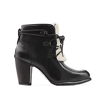 Ugg Ezcr013001 Women's Black Leather Ankle Boots