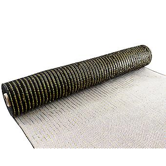 Metallic Black & Gold 53cm x 9.1m Deco Mesh Roll for Wreath Making & Floristry Crafts