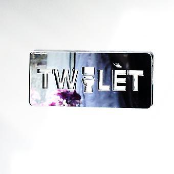 ハイチ クレオール トイレ TWALèT ' アクリル ミラーのドアサインを不足しているユニークです