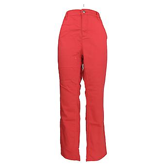 Liz Claiborne New York Women's Jeans Jackie Colored Slim Leg Red A256503