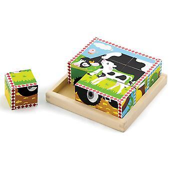 Puzzel New Classic Toys: boerderij 16x16 cm (59789 )