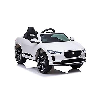 licenced land rover jaguar i-pace white kids electric ride on car one seater
