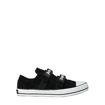 Palm Angels Pmia034e20lea0011001 Hommes's Black Fabric Sneakers