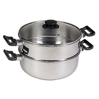 Pentola Cook Colore Grigio in Acciaio, Vetro, L32xP21xA16 cm