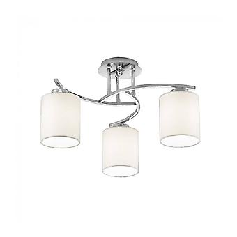 Ceiling Light Chrome Hexx 3 Bulbs Height 30 Cm