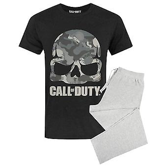 Call Of Duty Pánské & apos, s dlouhé pyžamo T-Shirt & Kalhoty Lounge Set