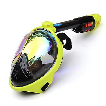 Masque de plongée sous-marin anti brouillard plein visage snorkeling ensemble