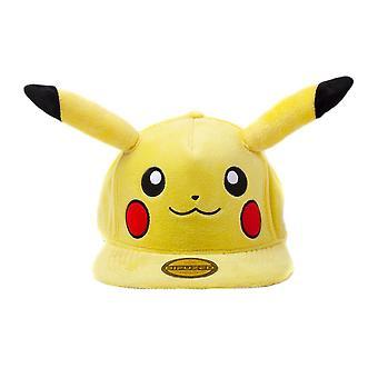 Pokemon Pikachu Plush Snapback Cap