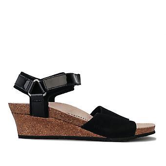 Women's Papillio Eve Wedge Sandals Narrow Width in Black
