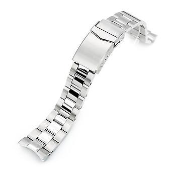 Браслет для часов Strapcode 22mm super 3d oyster 316l браслет из нержавеющей стали для ориентировочного тритона, V-застежки, полированного и матового