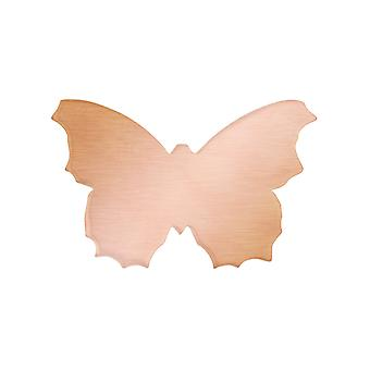 Copper Blanks Butterfly Pack of 6 33.5mm X 21.5mm X 0.9mm