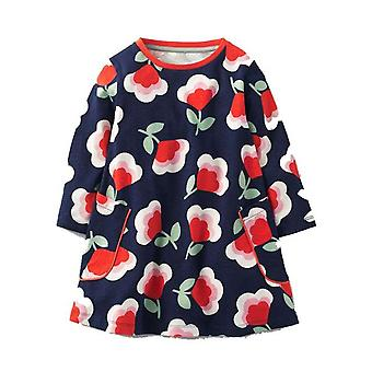 Long Sleeve Princess Tunic Jersey Dress, Flower Design, Infant