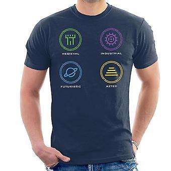 Crystal Maze Zone ikoner menn ' s T-skjorte