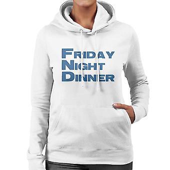 Friday Night Dinner Logo Kvinnor & s Hooded Sweatshirt