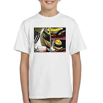 Motorsport Images Ayrton Senna McLaren Circuito Estoril Frame Art Kid's T-Shirt